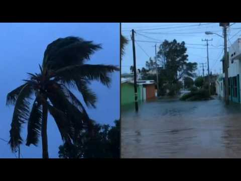 Torrential rain and strong winds as Hurricane Pamela weakens to tropical storm