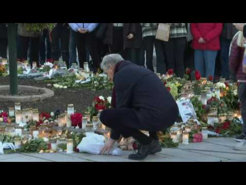 Norwegian Prime minister lays flowers in tribute to Kongsberg victims