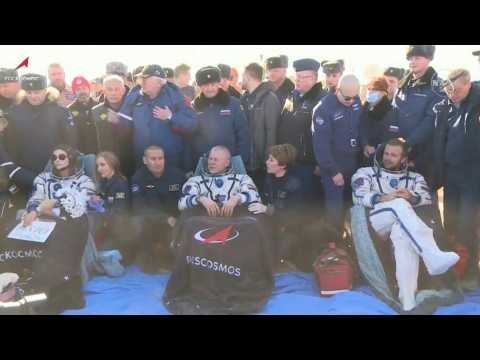 Russian film crew bids farewell to ISS, returns to Earth after filming first movie in space