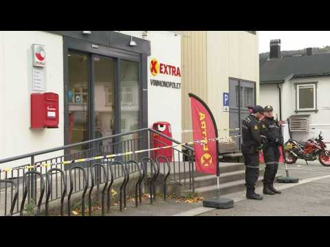 Police remain at scene of Norway bow-and-arrows attack