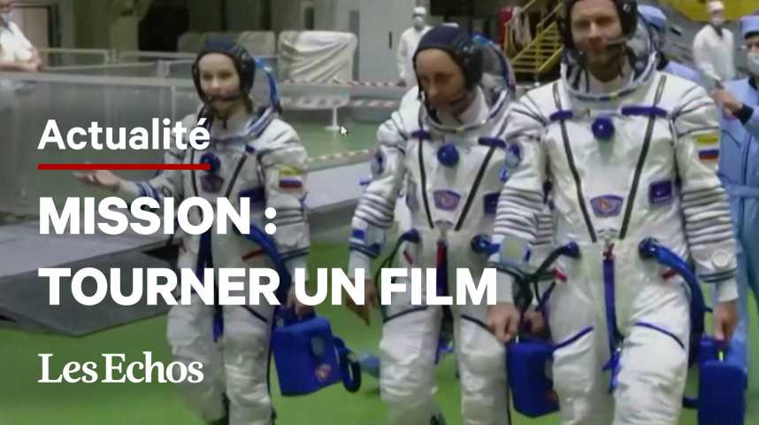 Illustration pour la vidéo La Russie envoie une équipe tourner le premier film dans l'espace