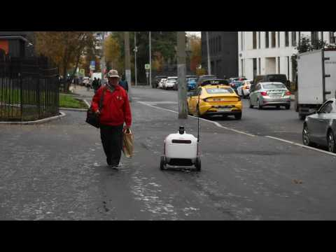 Robots in Russia deliver food at home