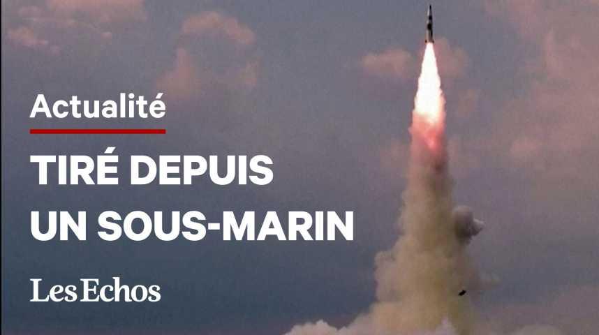 Illustration pour la vidéo La Corée du Nord confirme avoir testé un nouveau missile tiré depuis un sous-marin