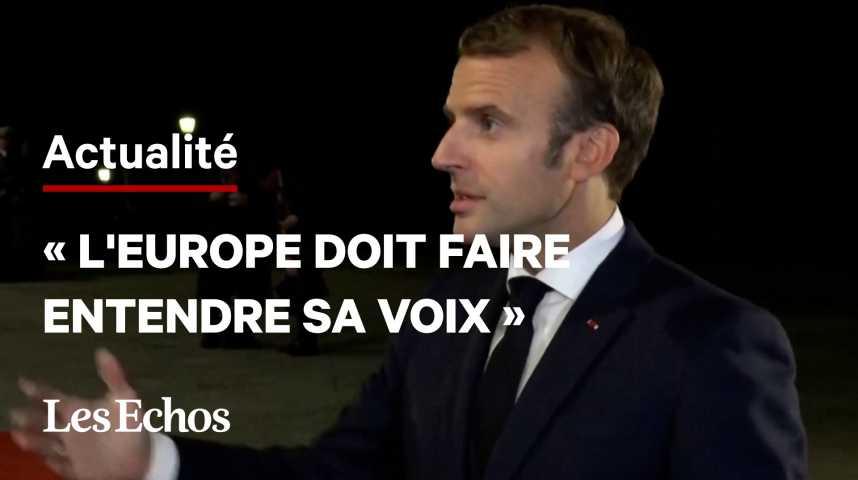 Illustration pour la vidéo Indo-Pacifique : « L'Europe doit parler d'une seule voix : sa voix », déclare Emmanuel Macron