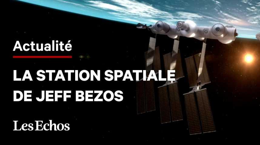 Illustration pour la vidéo Les images de la station spatiale que veut construire Jeff Bezos