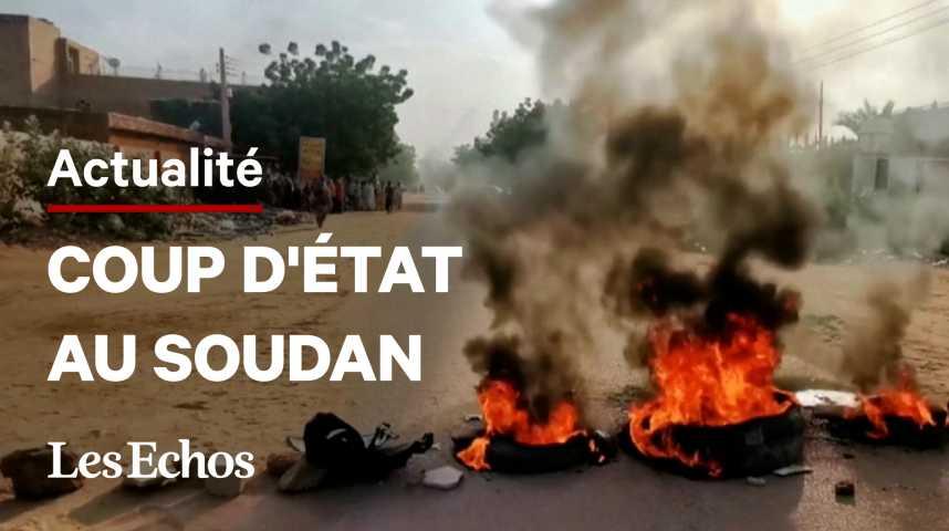 Illustration pour la vidéo Coup d'Etat au Soudan : manifestations dans la rue contre les militaires