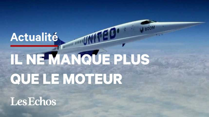 Illustration pour la vidéo United Airlines commande 15 avions supersoniques à Boom