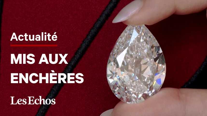 Illustration pour la vidéo Des crypto-monnaies acceptées pour la vente aux enchères d'un diamant d'exception