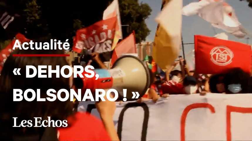 Illustration pour la vidéo Le Brésil dans la rue contre Bolsonaro