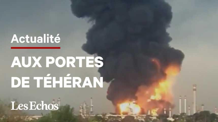 Illustration pour la vidéo Un incendie s'est déclaré dans une raffinerie proche de Téhéran