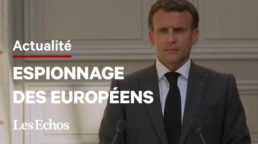 Illustration pour la vidéo Espionnage des Européens : « Ce n'est pas acceptable entre alliés », déclare Macron