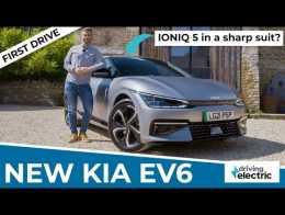 New 2021 Kia EV6 electric car prototype drive – DrivingElectric