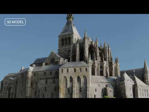 3D mapping the breathtaking island of Mont Saint-Michel with ANAFI Ai