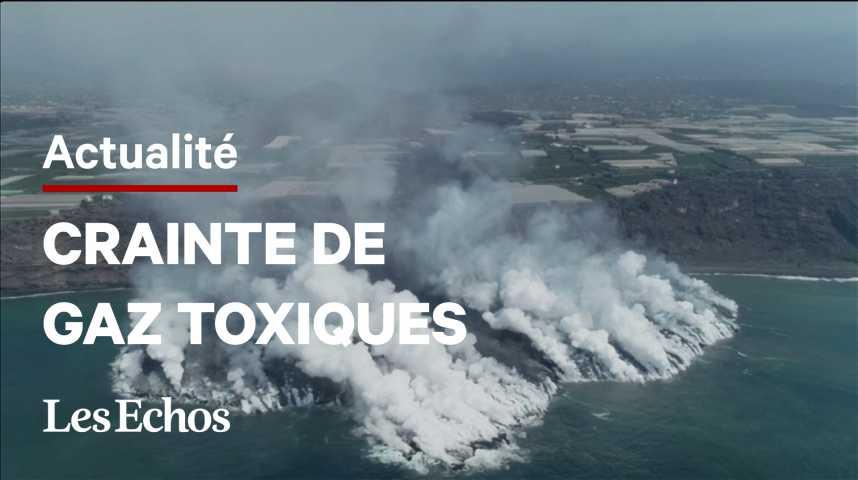 Illustration pour la vidéo Volcan aux Canaries : la lave s'enfonce dans l'océan avec des craintes de gaz toxiques