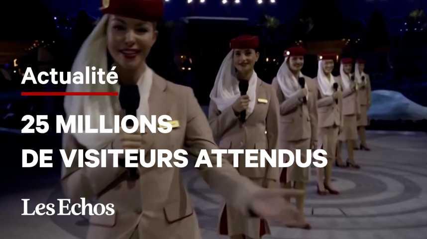 Illustration pour la vidéo Dubaï s'offre un show XXL pour le début de l'exposition universelle
