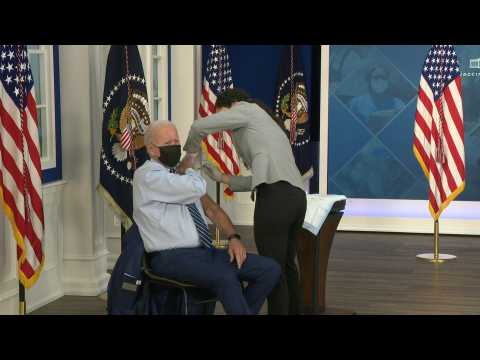 Biden receives Covid-19 vaccine booster shot