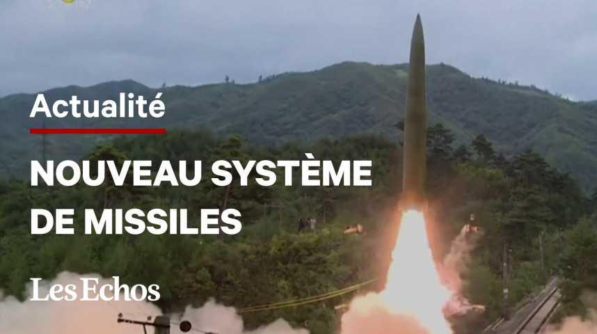 Illustration pour la vidéo Les images du nouveau système de missiles de la Corée du Nord