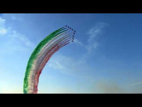 Tricolour Arrows put on spectacular air show to celebrate their 60th anniversary