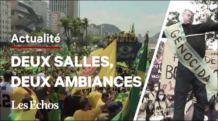 Illustration pour la vidéo Brésil : les pro et les anti-Bolsonaro face à face