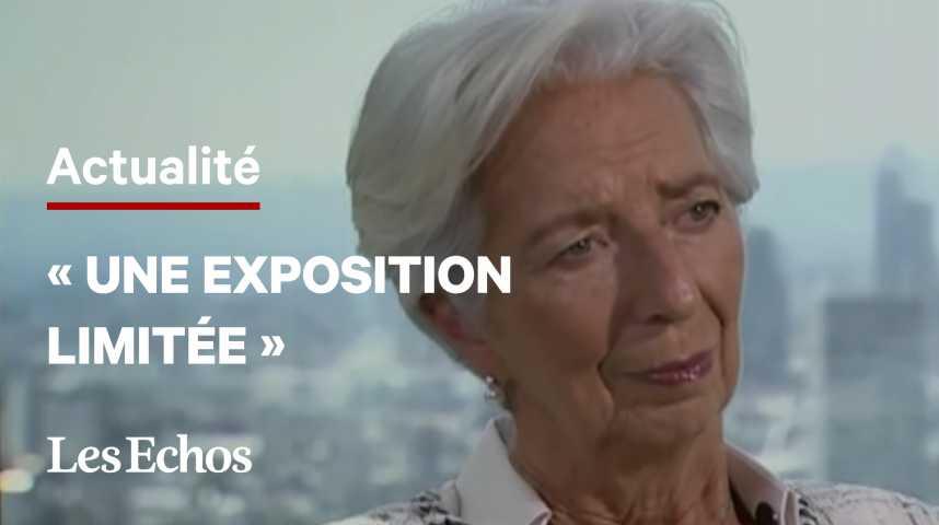 """Illustration pour la vidéo Possible faillite d'Evergrande: l'exposition de la zone euro """"serait limitée"""", selon Lagarde"""