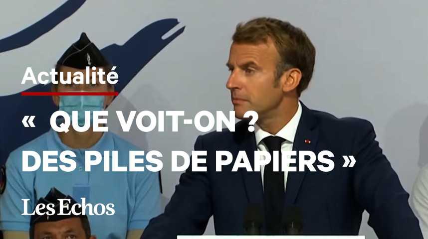 Illustration pour la vidéo Emmanuel Macron s'attaque à la lourdeur des procédures pénales