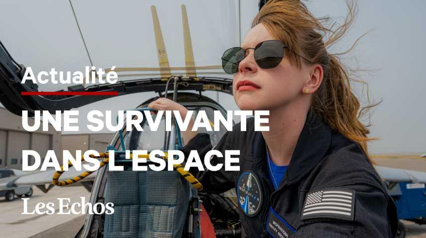Illustration pour la vidéo Hayley Arceneaux : l'espoir des malades du cancer décolle ce soir pour l'espace
