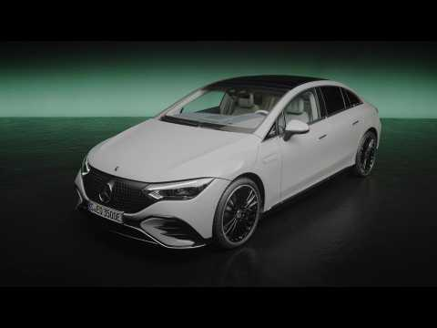 The new Mercedes-Benz EQE 350 Edition 1 Exterior Design in Studio