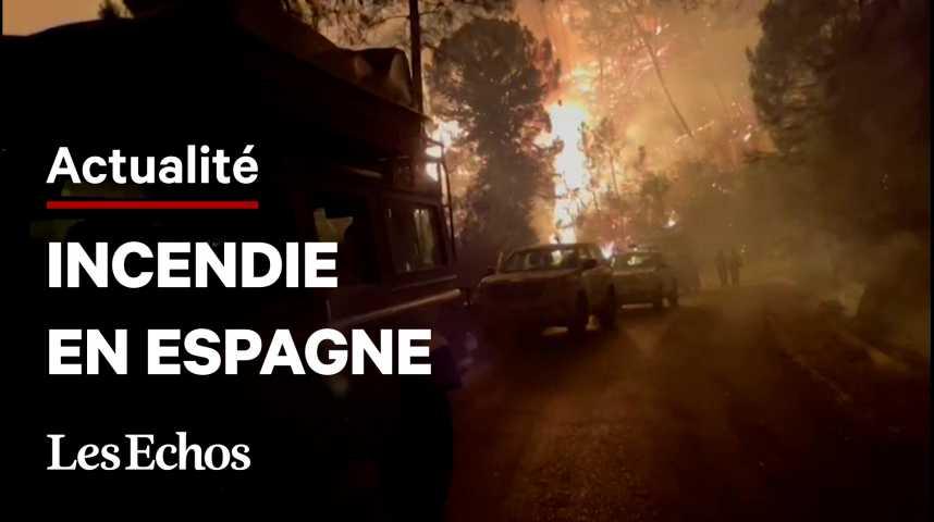 Illustration pour la vidéo Feu de forêt en Espagne: un pompier mort, un millier de personnes évacuées