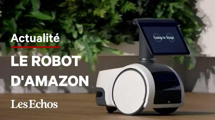 Illustration pour la vidéo Amazon lance un robot pouvant patrouiller dans les maisons