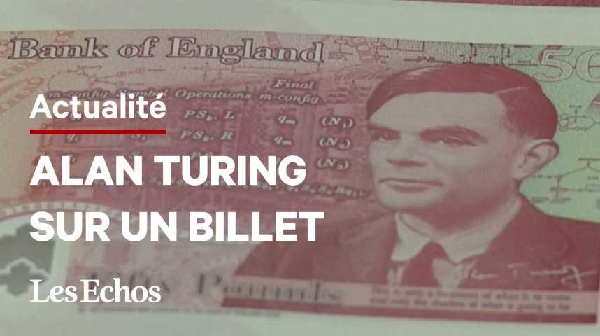 Illustration pour la vidéo Alan Turing, effigie du nouveau billet de 50 livres de la Banque d'Angleterre