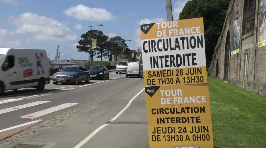 Thumbnail Tour de France : Brest se fige