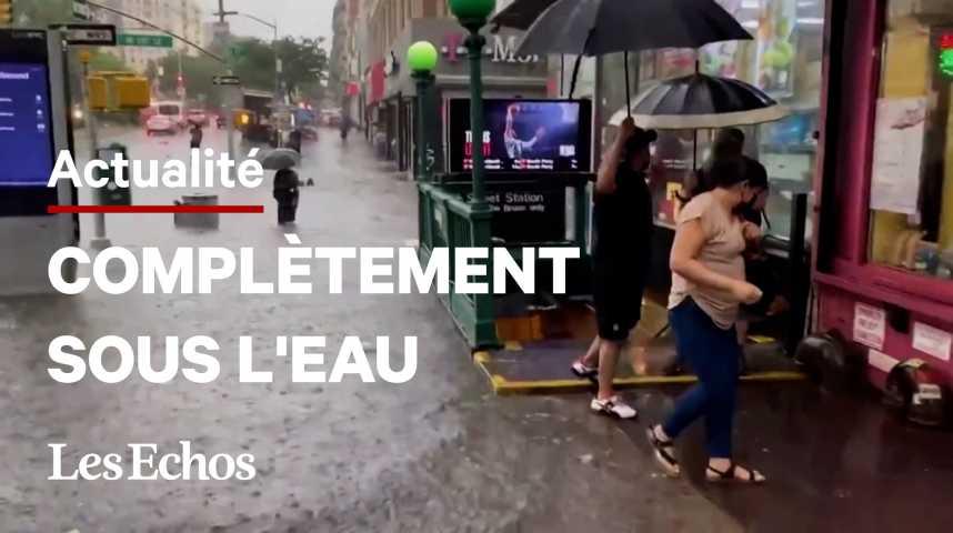 Illustration pour la vidéo New York se prépare à affronter la tempête tropicale Elsa