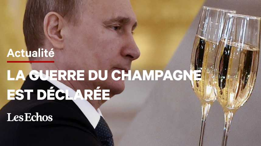 Illustration pour la vidéo Champagne français en Russie : un coup dur pour la filière