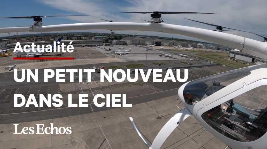 Illustration pour la vidéo Un taxi volant au-dessus du Bourget