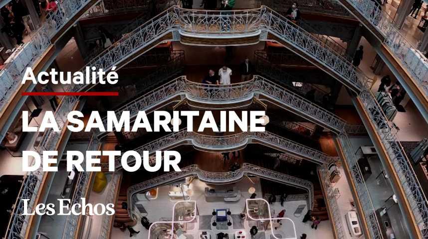 Illustration pour la vidéo La Samaritaine rouvre ses portes après 16 ans de travaux