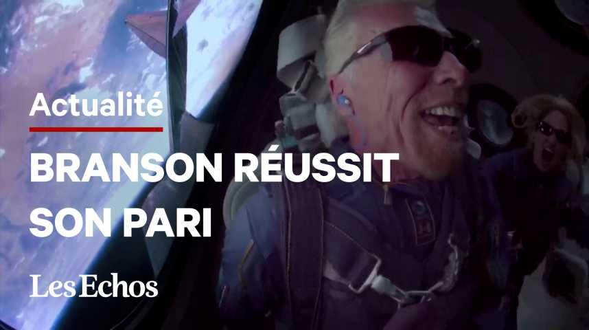 Illustration pour la vidéo Le milliardaire Richard Branson ouvre la voie au tourisme spatial avec Virgin Galactic