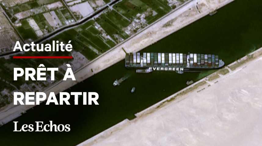 Illustration pour la vidéo L'Egypte a relâché le navire géant qui avait bloqué le canal de Suez