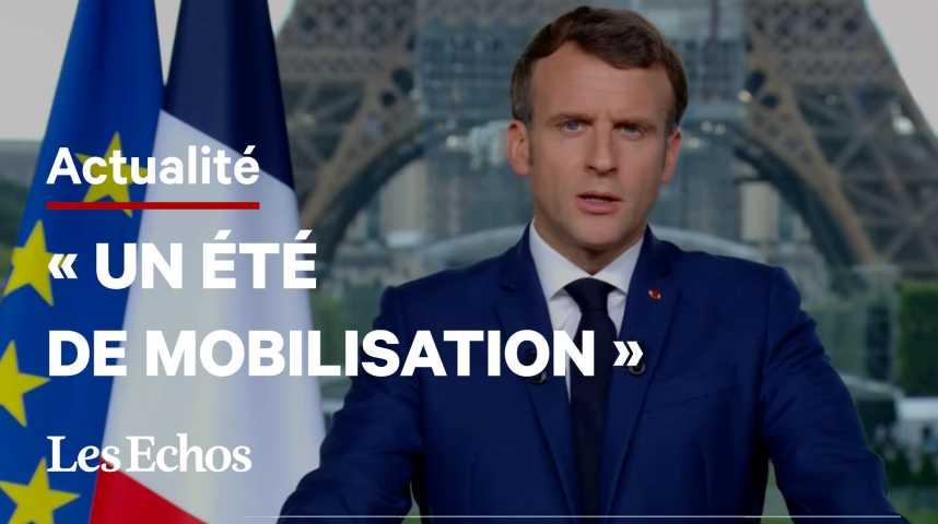 Illustration pour la vidéo Le pass sanitaire élargi à tous les lieux recevant du public, annonce Emmanuel Macron
