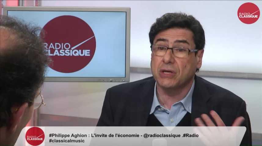 """Illustration pour la vidéo """"Emmanuel Macron se prépare à s'adresser à une série de personnes laissées pour compte"""" Philippe Aghion (26/04/2017)"""