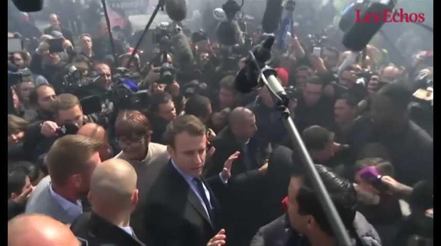 Illustration pour la vidéo Whirlpool : duel surprise entre Le Pen et Macron
