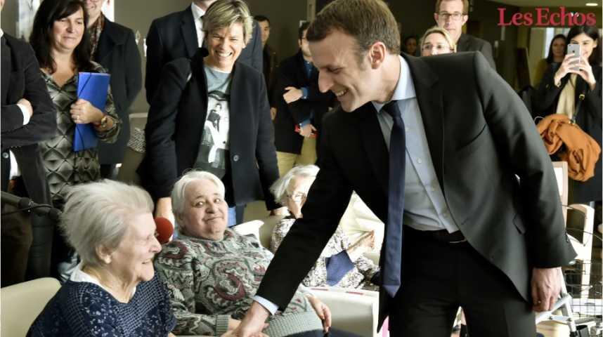 Illustration pour la vidéo Emmanuel Macron : vers une retraite par points dans… dix ans