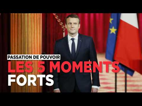 Les 5 moments forts de la passation de pouvoir Hollande-Macron