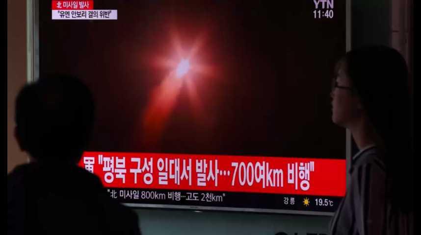 Illustration pour la vidéo Nouveau tir de missile de la Corée du Nord