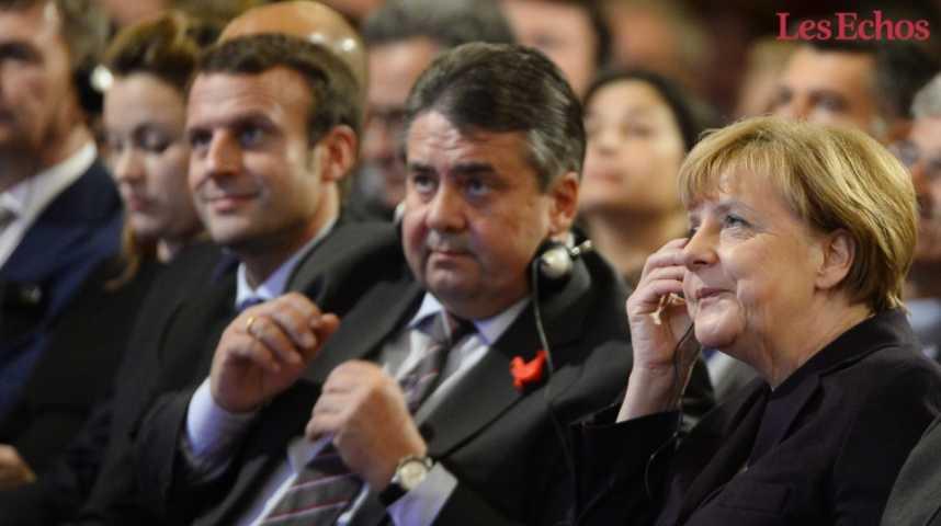 Illustration pour la vidéo Les enjeux de la rencontre entre Macron et Merkel