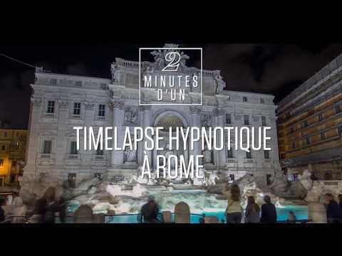 2 minutes hypnotiques dans les rues de Rome en accéléré