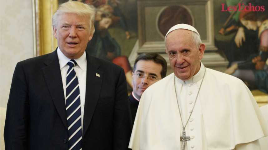 Illustration pour la vidéo Service minimum pour le pape François lors de la visite de Trump