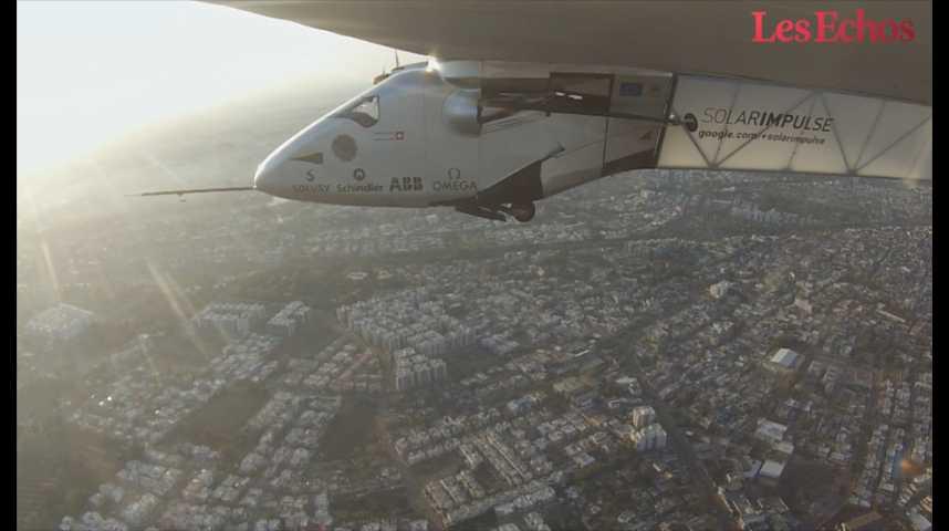 """Illustration pour la vidéo Solar Impulse : """"Dans 10 ans on fera voler 50 personnes sur des avions électriques"""""""