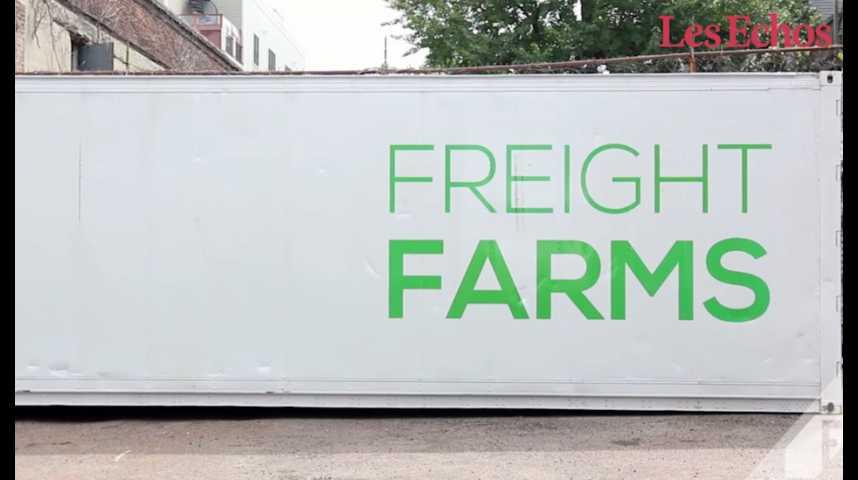 Illustration pour la vidéo Freight Farms mise sur les containers pour rendre l'agriculture plus urbaine