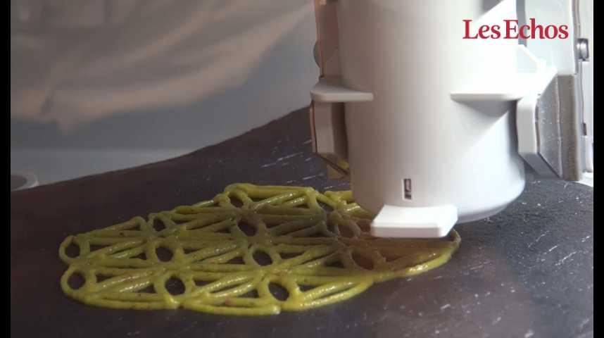 Illustration pour la vidéo Une imprimante 3D pour ... préparer le repas