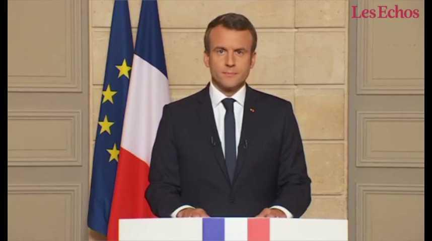 Illustration pour la vidéo Macron : « Ce soir, les Etats-Unis ont tourné le dos au monde »